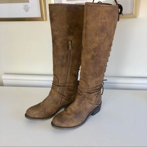 Very Volatile brown tall riding boots size 7